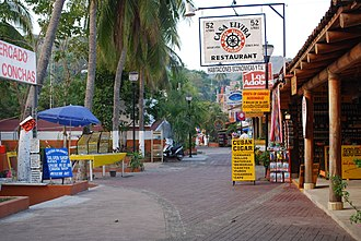 Zihuatanejo - Part of Paseo del Pescador or boardwalk