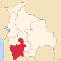 Situación de Potosí