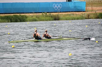 Rowing at the 2012 Summer Olympics – Men's coxless pair - Bond and Murray at the London Olympics