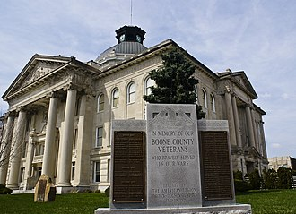 National Register of Historic Places listings in Boone County, Indiana - Image: Boone County Indiana Courthouse