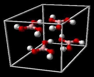 Boric acid - Image: Boric acid unit cell 3D balls