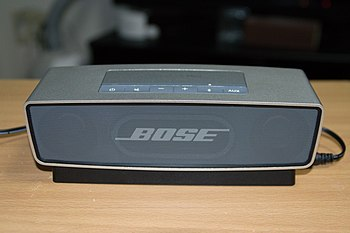 bose music system. the bose soundlink mini uses bluetooth to play audio from cell phones and other portable devices music system i