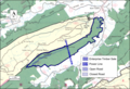 Boundary of the Sinking Creek Mountain wildarea as identified by the Wilderness Society.png
