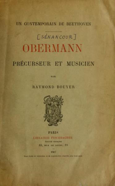 File:Bouyer - Obermann, précurseur et musicien, 1907.djvu