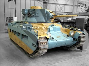 Henry Bowreman Foote - Matilda II tank at The Tank Museum, England, painted to represent a similar tank used by Lieutenant Colonel Foote