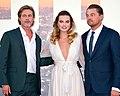 Brad Pitt, Margot Robbie, and Leonardo DiCaprio 2019 by Glenn Francis.jpg