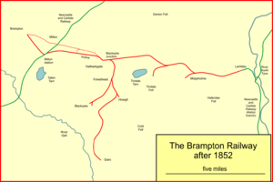 Brampton Railway - The Brampton Railway after 1852