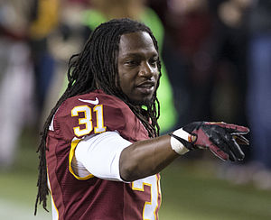 Brandon Meriweather - Meriweather with the Redskins in 2014.
