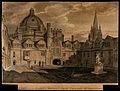 Brasenose College, Oxford; quadrangle, with St. Mary's Churc Wellcome V0014068.jpg