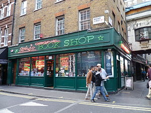 Brewer Street - Soho's Book Shop on Brewer Street.