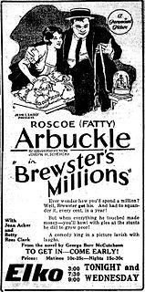 <i>Brewsters Millions</i> (1921 film) 1921 film
