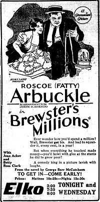 Brewsters Millions - newspaperad - 1921.jpg