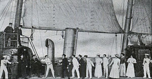 Brewster's Millions - The yacht scene from the Broadway play. Edward Abeles played Monty Brewster on Broadway as well as in the later film.