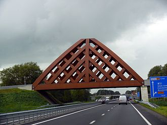 Wood preservation - This bridge made from acetylated wood near Sneek, the Netherlands, is designed to carry heavy traffic.