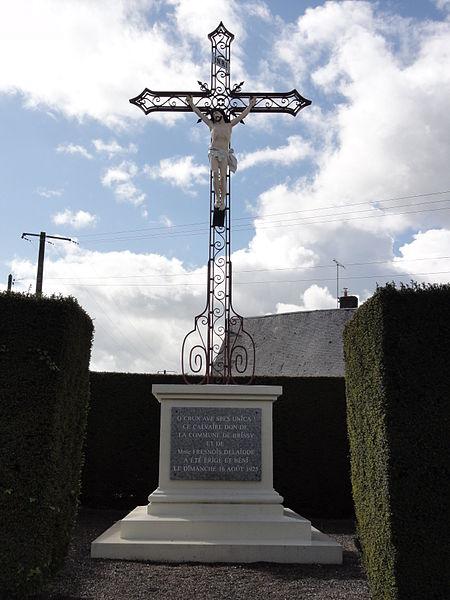 Brissy-Hamégicourt (Aisne) croix de chemin à Brissy