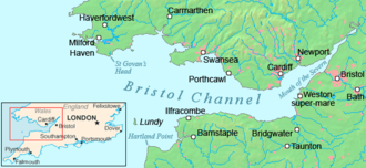 "Severn Estuary - Map of the Bristol Channel and the Severn Estuary (shown here as ""Mouth of the Severn"")"