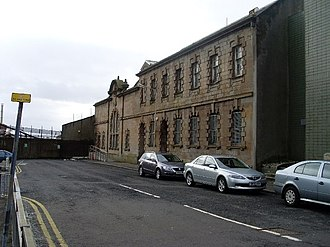 Clydebank - The former swimming baths on Bruce Street were opened in 1932 and was one of the few buildings in the town to survive the Clydebank Blitz. It originally had a variety of facilities, including Turkish Baths, Russian Vapour Baths, a laundry and a massage room. Although disused since the early 1990s, the building is C-listed, and controversy has surrounded recent attempts by West Dunbartonshire Council to demolish it.