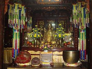 Thích Nhất Hạnh - Buddha hall of the Từ Hiếu Pagoda