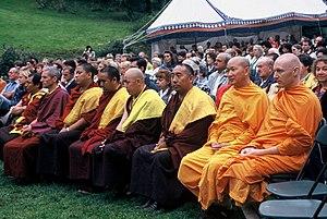 Buddhism in Belgium - Meeting of Belgian Buddhist representatives at Yeunten Ling Tibetan Institute, Huy on 3 September 1997