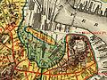 Bulfinch Triangle, Boston, in 1880 on map showing original shoreline.jpg