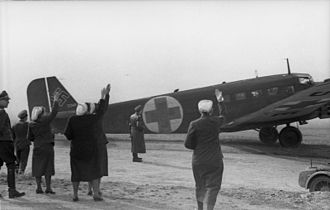 Air medical services - Ambulance Junkers Ju 52, Balkans, 1941