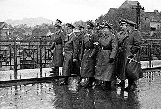 Old Bridge (Maribor) - Image: Bundesarchiv Bild 121 0721, Marburg Drau, Adolf Hitler