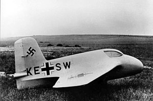Messerschmitt Me 163 Komet - The Me 163A V4 prototype, in 1941
