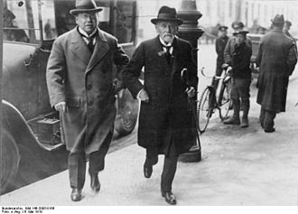 Matthias Erzberger - Erzberger and Minister Eduard David in Berlin, May 1919