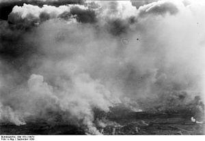 Alexander Löhr - Warsaw burning, September 1939
