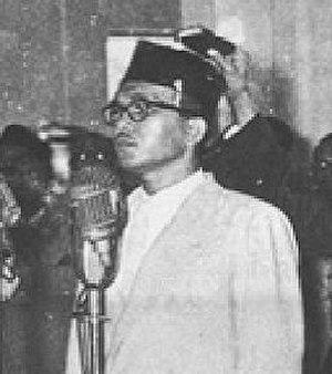 Burhanuddin Harahap - Image: Burhanuddin harahap cropped