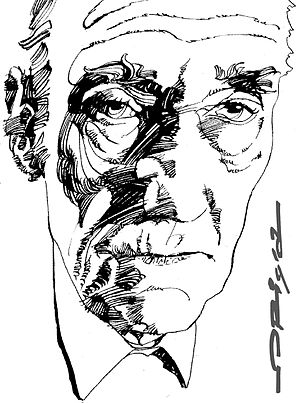 William S. Burroughs - Artist's impression of Burroughs