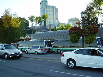 Niagara Parks Commission People Mover - Two-unit people mover bus
