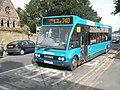 Bus passing St Leonard's in Corve Street - geograph.org.uk - 1465138.jpg