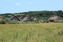 Busdorf - Haithabu - Wikinger-Häuser 02 ies.jpg