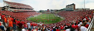 Maryland Stadium - Panoramic view during a 2007 game vs. the Clemson Tigers, before the expansion of Tyser Tower.