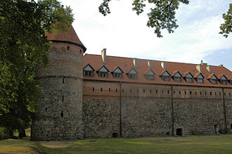 Bytów - Side view of the castle of the Teutonic Order.