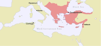 Map of the Byzantine Empire under Manuel, c. 1180.