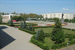 Lenina Square in Kstovo