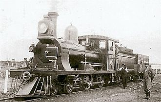 CGR 3rd Class 4-4-0 1889 - CGR 3rd Class 4-4-0 no. 114 of 1889