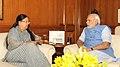 CM of Rajasthan Vasundhara Raje meets PM Modi.jpg