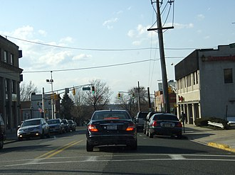 County Route 501 (New Jersey) - County Route 501 in Palisades Park, New Jersey as Central Boulevard