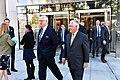 CSIS CEO John J. Hamre and Secretary Tillerson Walk Outside CSIS Headquarters (37745305152).jpg