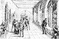 C Schacher - Bürgerhospitaliten beim Luftschnappen im Kreuzgang 1850.jpg