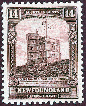 Cabot Tower (St. John's) - Cabot Tower postage stamp