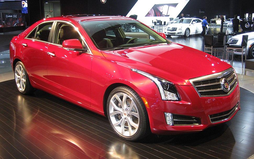Cadillac ATS in Red at NAIAS 2012