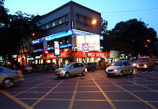 Shakespeare Sarani Road in Kolkata, India