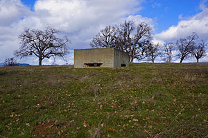 Camp White - One of the concrete pillboxes on Upper Table Rock designed to simulate Nazi fortified coastal regions of Europe
