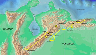 Admirable Campaign - Route of the Admirable Campaign