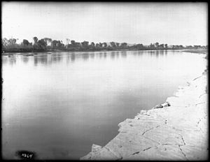 Alamo Canal - Image: Canal full with water from the Colorado River, ca.1903 (CHS 4264)