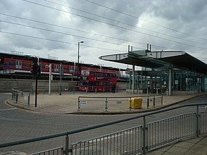 Canning Town station - View of the bus station from the south east